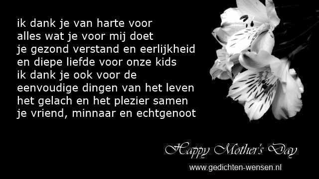 Moederdag Gedichten Van Echtgenoot Partner En Vader Voor