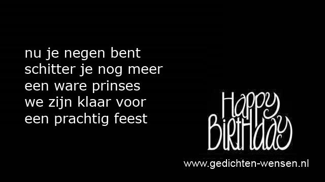 Populair Verjaardagsteksten 9 jaar jongen of negen jarig meisje @BZ16