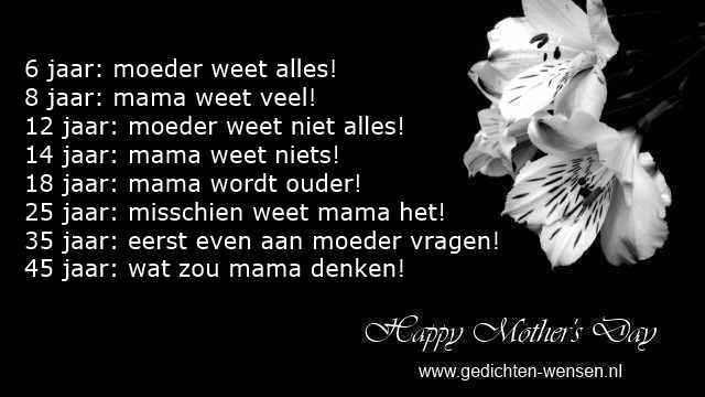 grappige gedichten moederdag en humor rijmpjes van peuters voor mama