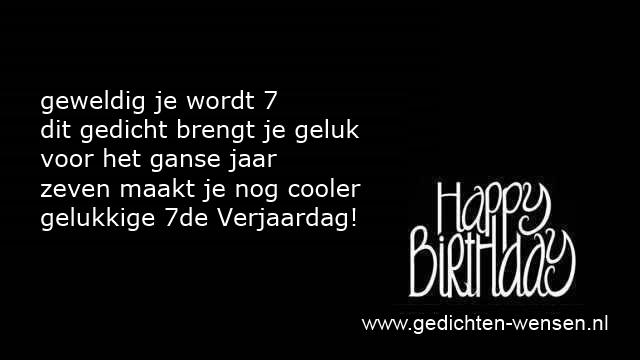 Gedichten Verjaardag 7 Jaar Meisje Of Zeven Jarige Jongen